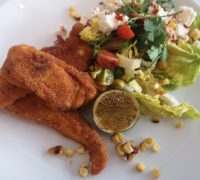 Polenta Crusted Chicken With Char-Grilled Corn Salsa