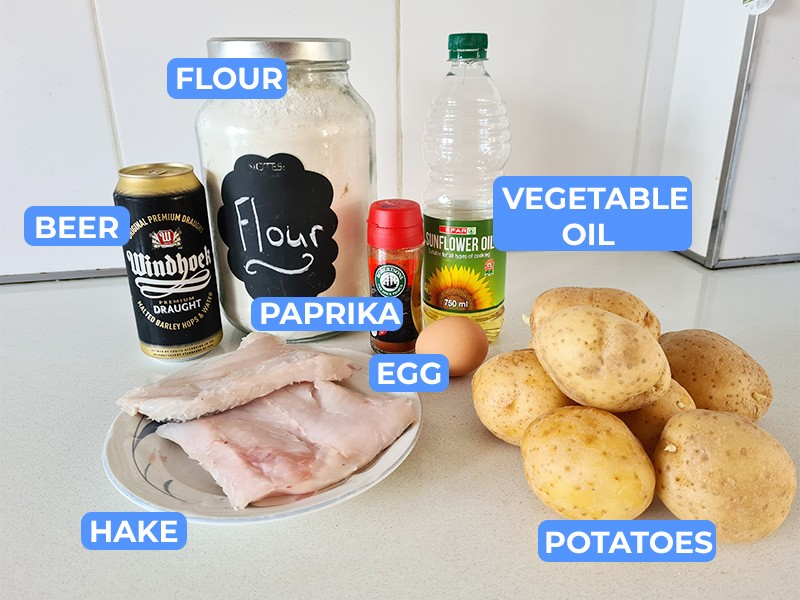 fish and chips recipe ingedients