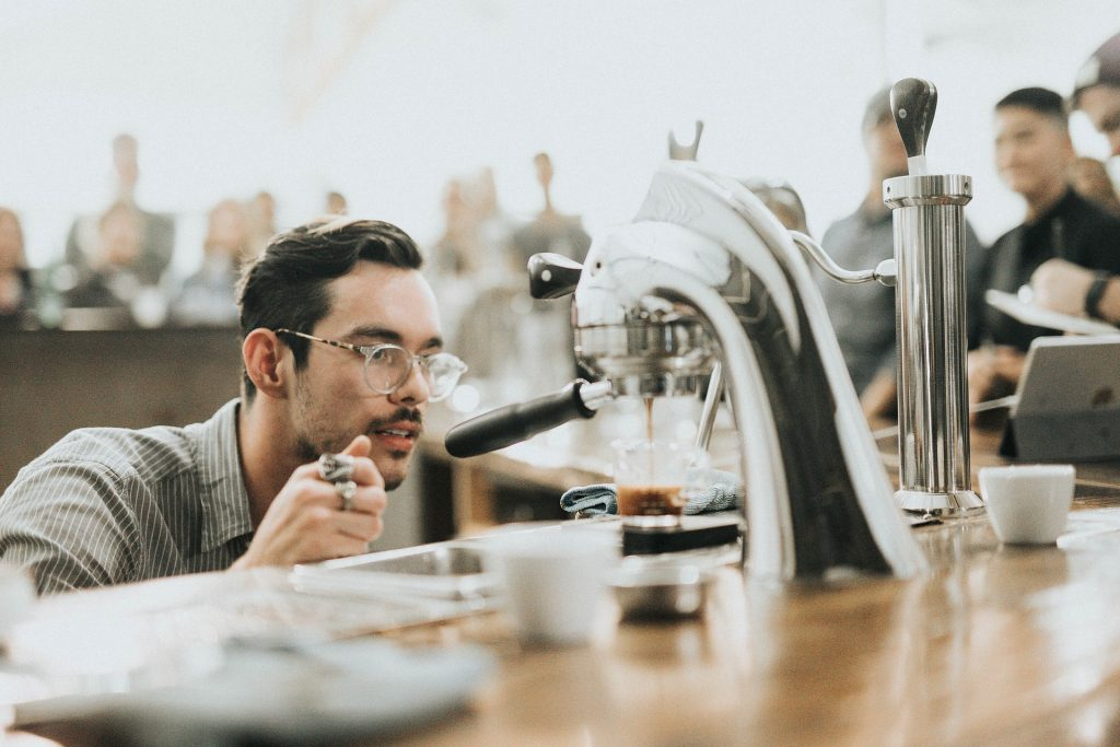 does this barista know the best coffee grinder? I bet he does ...